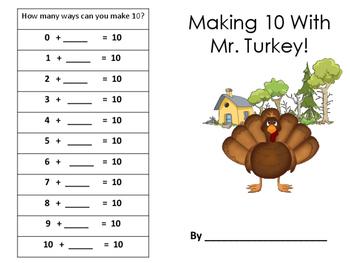 Making Ten with Mr. Turkey