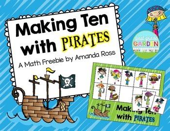 Making Ten with Pirates: A Math Freebie