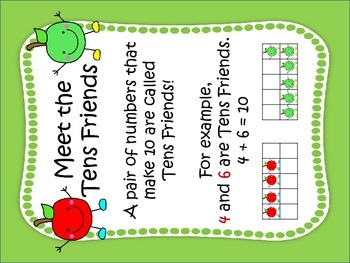 Making Ten with Tens Friends (A Math Fluency Up & Move Product) apple theme