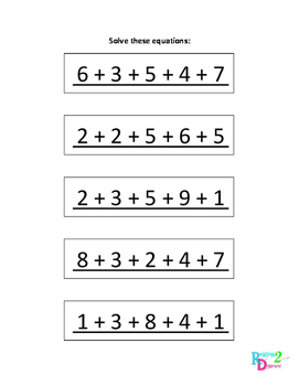 Making Tens Addition