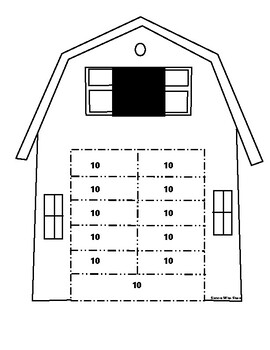 Making Tens Number Activity - Barn Themed
