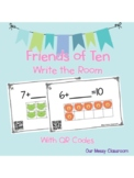Making Tens Write the Room Activity with QR Codes (Friends of ten)