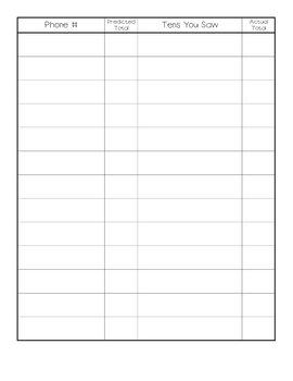 Making Tens Strategy - Phonebook Math