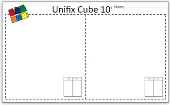 Making Tens Using Unifix Cubes - Pre-K Kindergarten Activity
