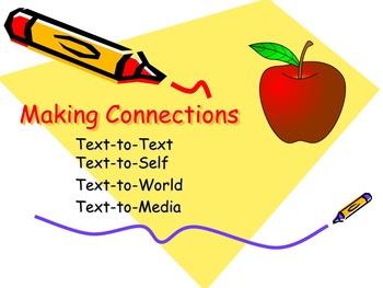 Making Text Connections PowerPoint Reading Comprehension CCSS