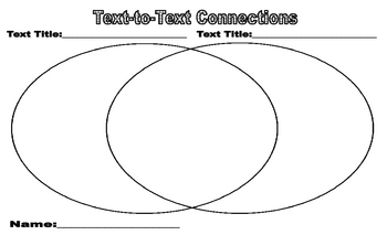 Making Text To Text Connections Worksheet By Caddi Tpt