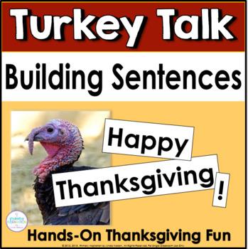 Thanksgiving Turkey Talk Sentence Building