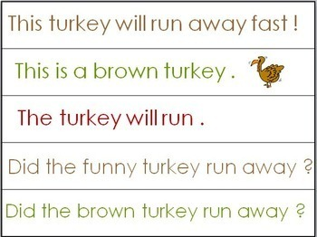 Pocket Chart Activities for Thanksgiving