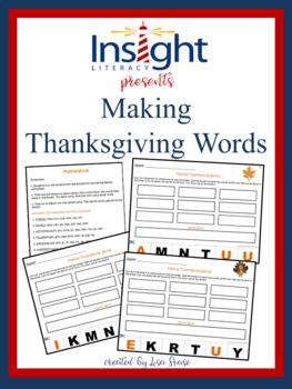 Making Thanksgiving Words, K-4