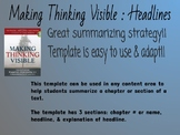 Making Thinking Visible - Headlines Template