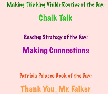Making Thinking Visible with Patricia Polacco Mini Unit