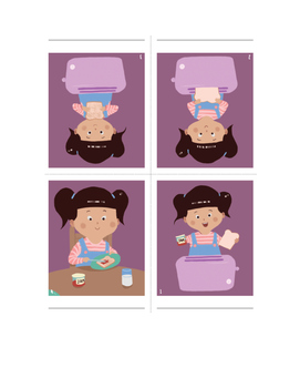 Making Toast 4-Step Picture Sequence