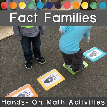 Making Tracks with FACT FAMILIES, Movement Math Game and Activity