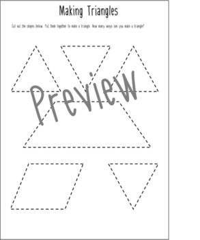 Making Triangles Maths Puzzle