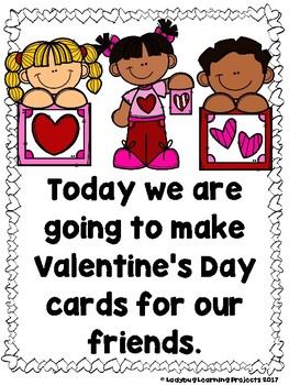 Making Valentine's Day Cards  (Emergent Sight Word Reader and Teacher Lap Book)