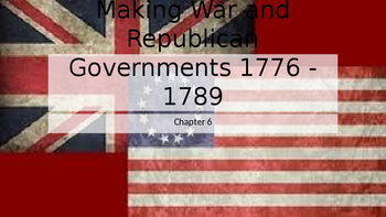 Making War and Republican Governments 1776 - 1789