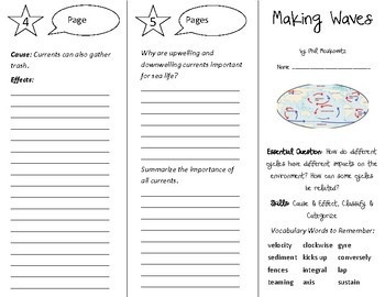 Making Waves Trifold - Open Court 5th Grade Unit 2 Lesson 2