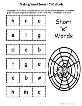 Making Word Boxes with CVC and CVCe Words