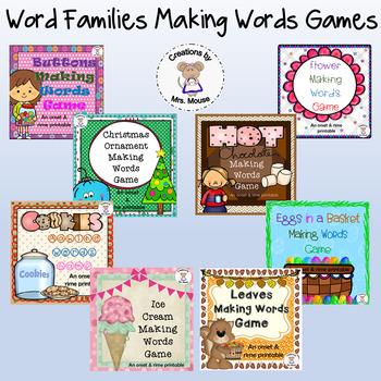 Making Word Families Game Bundle (Onset & Rime)