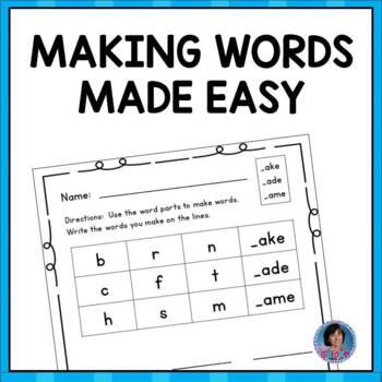 Word Work focusing on Short Vowels, Long Vowels & Consonant Clusters {No Prep!}