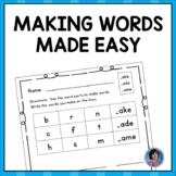 Making Words Word Work: Short Vowels, Long Vowels & Consonant Clusters