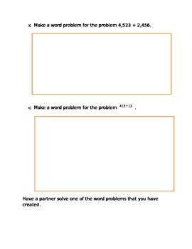 Making Word Problems