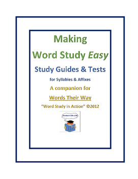 Making Word Study Easy - Syllables & Affixes #40-46