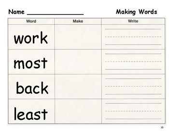 Making Words 2