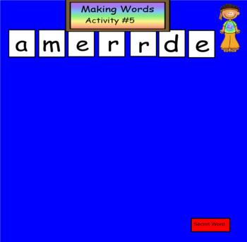 Making Words  4 Blocks Model Smartboard Activities