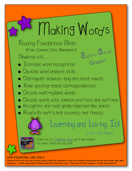 """Making Words"" - Building Words With Phonetic Spelling Patterns"