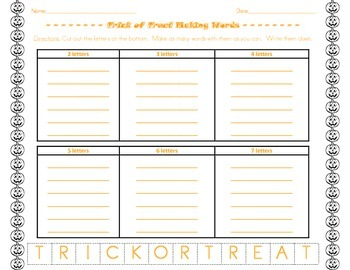 Making Words Activities BUNDLE for Seasons and Holidays!