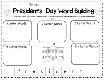 Making Words Activities for the Year (NO PREP!)