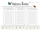 Making Words Activity: Butterflies