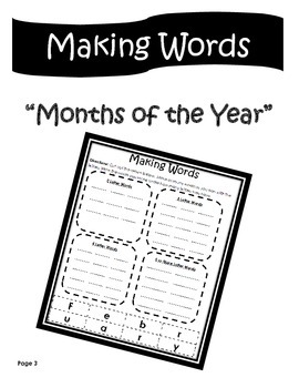 Making Words Activity Packet
