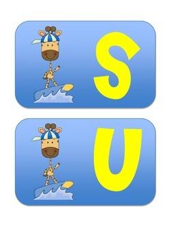 Making Words Activity - Surfing, Snorkeling, lemonade
