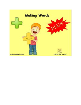 Making Words: Adding