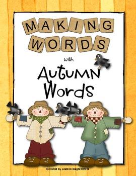 Making Words - Autumn Words