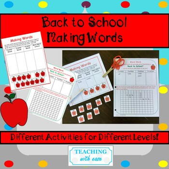 Making Words: Back to School