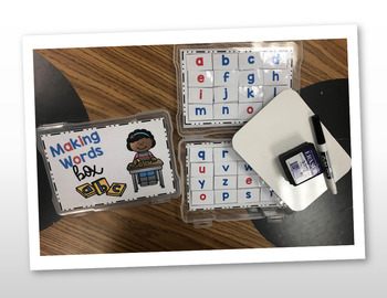 Making Words Box Covers and Inserts