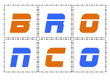 Making Words - Broncos Football
