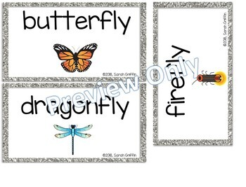 Making Words Bugs and Insects ~ Writing Center