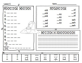 Making Words Bundle - Guided Activities for Spelling and Vocabulary Skills