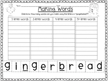 """""""Making Words"""" Bundle Pack {Includes all """"Making Words"""" from my Thematic Units}"""