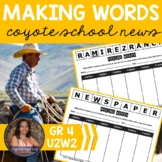 Making Words CENTER - Coyote School News