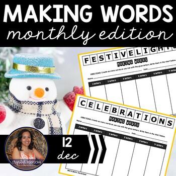 Making Words CENTER - December