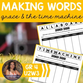 Making Words CENTER - Grace and the Time Machine