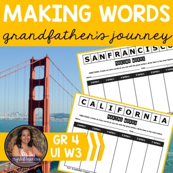 Making Words CENTER - Grandfather's Journey