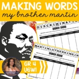 Making Words CENTER - My Brother Martin