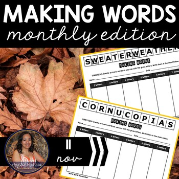 Making Words CENTER - November