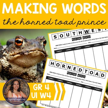 Making Words CENTER - The Horned Toad Prince